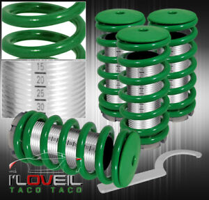 94 97 98 01 Acura Integra Dc2 Ls Rs Scale Adjustable Coilovers Sleeves Kit Green