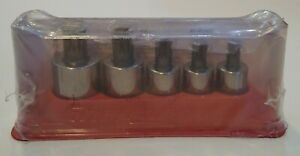 Snap On 305stsmse 5 Pc 1 2 Dr Stubby Triple Square Bit Socket Set 10 To 18mm