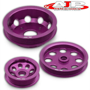 For 240sx S14 Sr20 Motor Engine Pulley Kit Light Weight High Performance Power