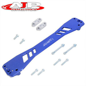 For 1996 00 Honda Civic Ek Jdm Sport Aluminum Rear Lower Subframe Brace Bar Blue