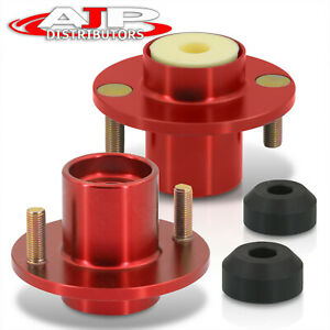 Red Aluminum Coilover Shock Top Hat Mount Extended For 1988 2000 Civic Integra