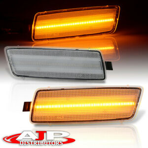 Clear Lens Amber Led Front Bumper Side Marker Lights Set For 2006 2009 Jetta Gti