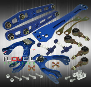 For 92 95 Civic Eg Blue Suspension Combo Set Control Arm Camber Kit Subframe