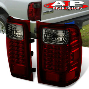 Red Smoke Replacement Led Tail Lights Stop Brake Lamps For 2001 2011 Ford Ranger