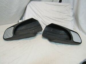 Pair Of Universal Truck Towing Mirrors Slip On Clamp Down Used On A 2005 Ford