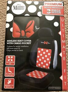 Disney Minnie Mouse New Improved 3 Piece Design Sideless Seat Cover 1 In Pack
