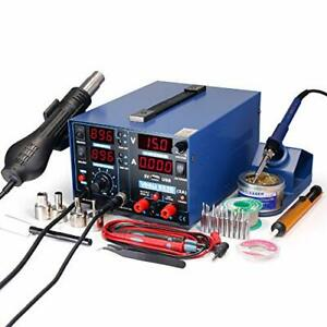 Yihua 853d 2a Usb Smd Hot Air Rework Soldering Iron Station Dc Power Supply