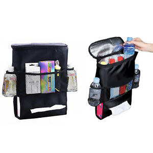 Car Seat Back Organizer Holder Multi pocket Travel Cooler Storage Bag Hanger
