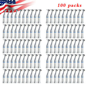100 X Dental Contra Angle Low Speed Handpiece Push Chuck Fit Nsk Fg Burs 1 6mm