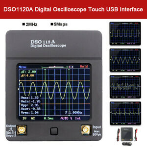 Dso112a Digital Oscilloscope Portable Usb Tft Multimeter Tester 5msps 2mhz