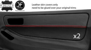 Red Stitch 2x Door Card Trim Leather Cover For Honda Integra Type R Dc2 93 01