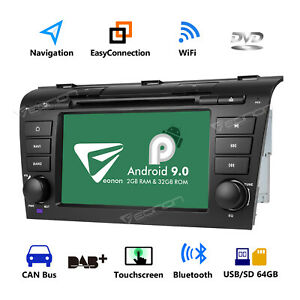 For Mazda 3 2004 2009 7 Android 9 0 Car Stereo Dvd Gps Navi Head Unit Bluetooth