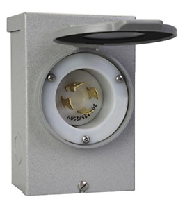 Reliance Controls Outdoor Power Inlet Box 30 Amps