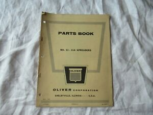 Oliver 11 11a Manure Spreader Parts Book Catalog Manual