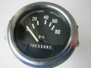 Vintage Oil Pressure Gauge Old School Hot Rod Rat Rod Electric 12 Volt