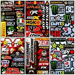 6 Rockstar Energy Sponsor Atv Racing Metal Mulisha Truck Vinyl Decals Stickers