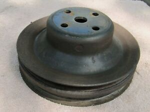 Vintage Mopar Oem Pulley 225 Slant Six Two Groove Fan Water Pump Pulley Chrysler