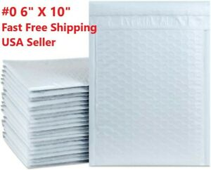 0 6x10 Poly Bubble Mailers Envelopes Shipping Cd Dvd Vmb 6 5 X 10 5 Bags