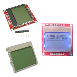 Diy White blue 84 48 Nokia 5110 Lcd Display Screen Module Module Arduino B2ae