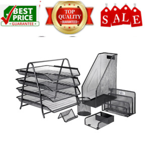 Mesh Office Desk Accessories Organizer Set 6 Pieces High Quality And Portable