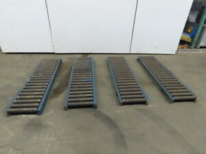 Heavy Duty 60 x 16 Gravity Roller Conveyor 13 Bf X 1 90 Dia Roller Lot Of 4