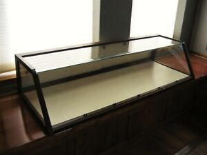 Rare Antique Vintage Wood Glass Table Top Display Show Case 47 1 4 Long