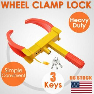 Wheel Tire Lock Clamp Parking Boot 6 11 Anti Theft For Boat Trailer Car Suv Rv