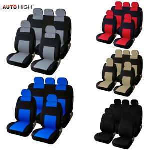 Universal Auto Front Rear Headrest Seat Cover For Truck Suv Van Gift For Father