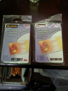 Scotch 2 packs Of Self sealing Laminating Pouches 10 Pouches 2 7 16 In X 3 7 8in