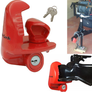 Trailer Tongue Lock Coupler Universal Anti Theft Hitch Safety Security Mechanism