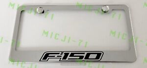 F 150 Stainless Steel License Plate Frame Rust Free W Bolt Caps
