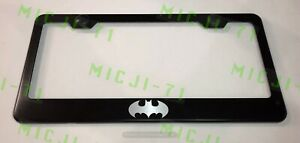 Batman Superhero Stainless Steel License Plate Frame Rust Free W Bolt Caps