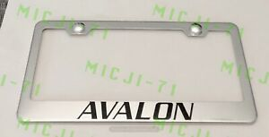 Avalon Stainless Steel License Plate Frame Rust Free W Bolt Caps