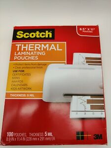 Scotch Thermal Laminating Pouches 8 5 X 11 Pouches 5mil Thickness Used