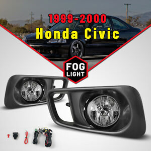 Replace Fog Lights For 99 00 Honda Civic Si type R Drive Lamps Wiring Kit Switch