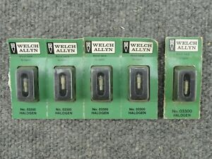 Unused Lot Of 5 Welch Allyn No 03300 Bulbs For 11511 Instrument