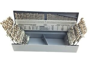 115 Piece Bright Finish High Speed Steel Jobber Drill Set Usa 5001 0115