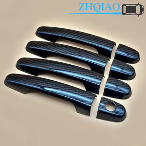 Carbon Fiber Style Door Handle Cover Trim Fit Toyota Corolla 2009 2013 2010 2011