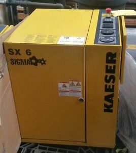 5 Hp Kaeser Sx6 Rotary Screw Air Compressor New 2012 Low Hours