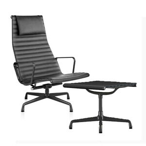 Authentic Herman Miller Eames Aluminum Group Lounge Chair And Ottoman Dwr