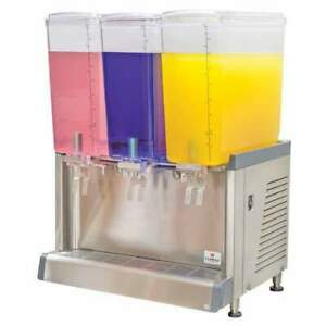 Crathco Cs 3l 16 s Refrigerated Drink Dispenser W 3 4 3 4 Gal Bowls Pre Mix