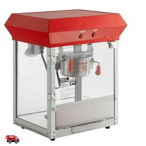 Commercial Popcorn Machine Maker Popper Concession Movie Theater Cart 4oz Kettle