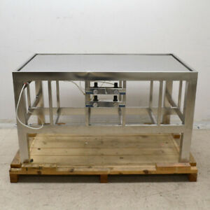 Nta Industries 2146c1 36 x 60 x 34 5 Stainless Steel Isolation Vibration Table