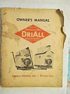 Driall Grain Dryer Owner s Manual