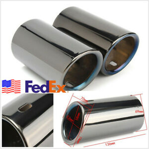 Usa Stock 2 Pcs Stainless Steel Car Tail Exhaust Tip Pipes For Bmw 325 328i E90