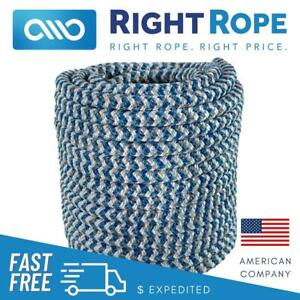 1 2 X 150 Strongest Arborist Bull Rope Tree Rigging Double Carrier Braided