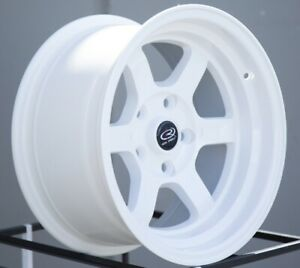 16x8 Rota Grid V 5x114 3 20 White Wheels set Of 4