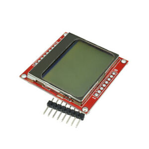 84 48 Lcd Module White Backlight Adapter Pcb For Nokia 5110 Arduino B2ae