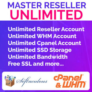Master Reseller Hosting Unlimited Whm Cpanel 0 99 First Month ssd Disk