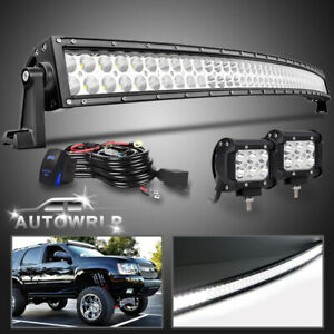 54inch Led Light Bar Combo Wiring Kit Offroad Suv Driving For Ford 52 20